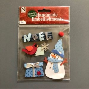 Noel Snowman Christmas Scrapbook Stickers NWT